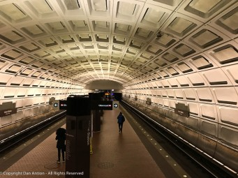 I always love the view going into the Metro Station under Union Station in DC.