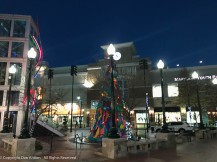 Open air pedestrian mall in Silver Spring, MD.