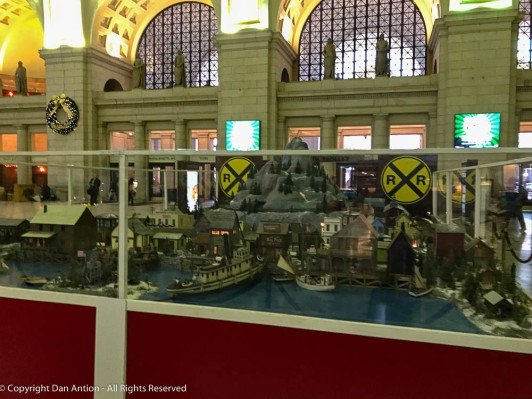 Miniature train display at Washington, DC's Union Station.