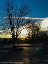 The sun is still rising near 8:00 am as we walk for coffee.
