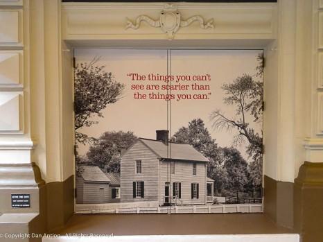 "Advertising (on doors) for ""To Kill a Mockingbird"""