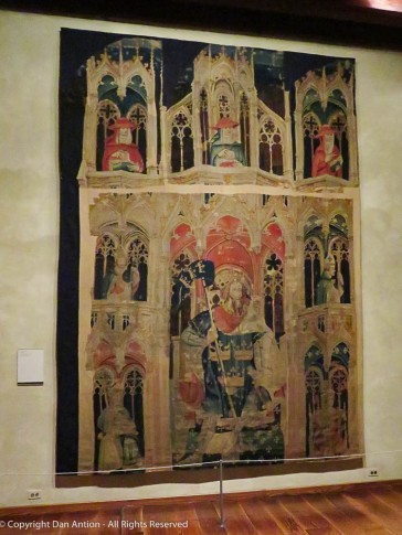 These tapestries have hung somewhere since the 1400's and yet they still have some amazing colors.