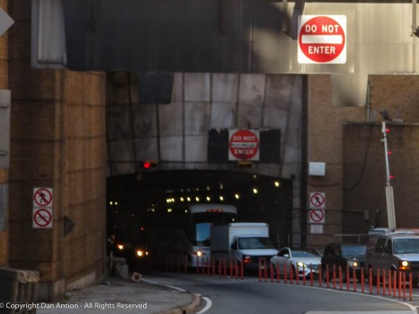 For the nice readers who hail from New Jersey, this is the exit of the Lincoln Tunnel - kind of a door.