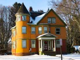 I'm not wild about the color scheme but it's a nice example of the Victorian houses in the district.