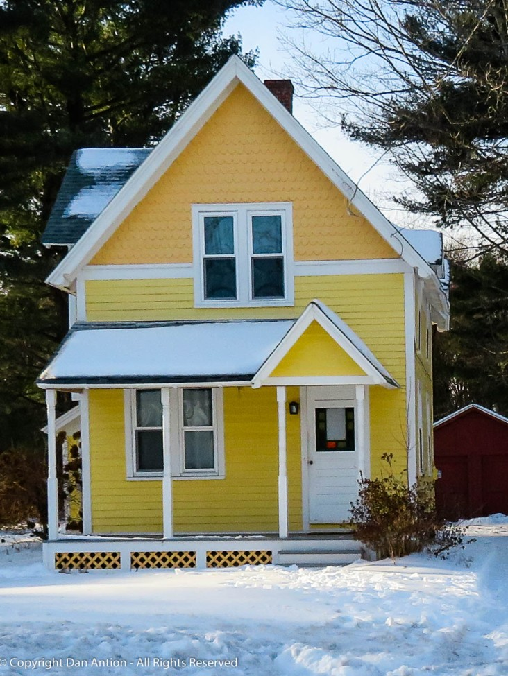 I figure someone is going to like this cute little yellow house.