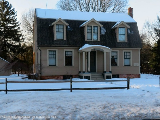 This house was built in 1790. I like the narrow windows in the larger dormer over the entrance,