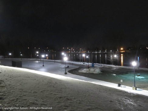 Great River Park is closed. They are still working on snow removal. They are no longer allowed to simply plow it into the river.