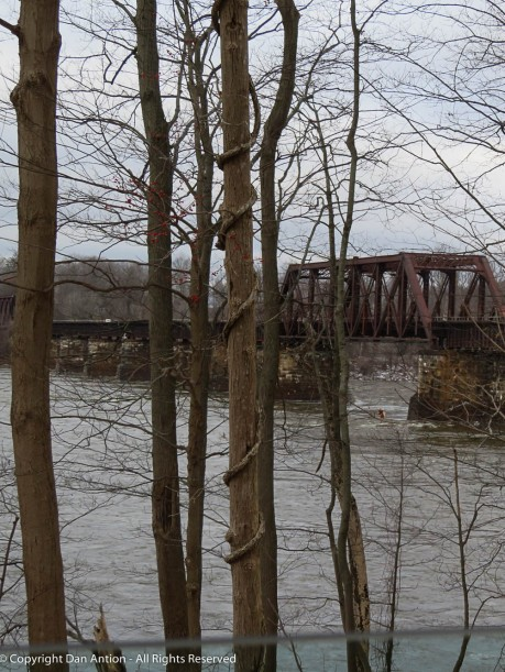 The CT River is running high and fast.
