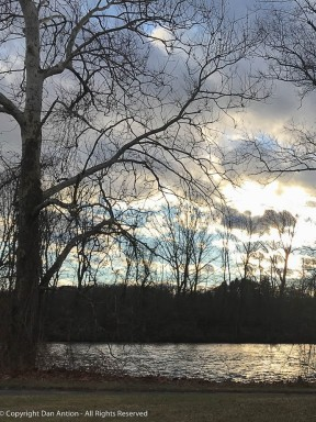 Looking over the Farmington River near at sunset.
