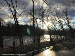 Looking west along the Farmington River.