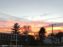 We've had some colorful sunsets lately. I'd rather not have all the buildings and wires, but this color is gone in a matter of seconds.