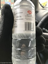 I left this bottle of water in my car on Monday.