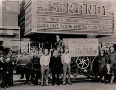"""The Strand Theater - """"In Old Chicago"""" was released in 1938."""