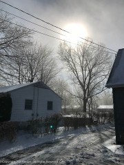 The fog is beginning to burn off. The ice will be melting soon.