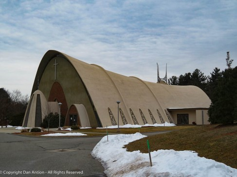 St Malachy Catholic Church. It almost looks like you could squeeze it and fold it up.