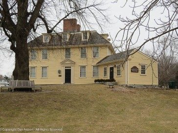The section on the rigt is the Buckman Tavern Museum Shop.