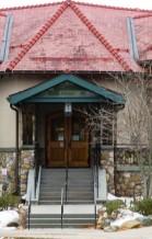 Main doors of the Cary Memorial Library in Lexington