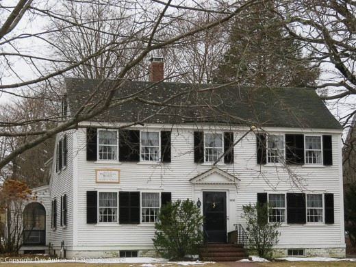 This house sits across the street on the west side of the Common. Built in 1729.