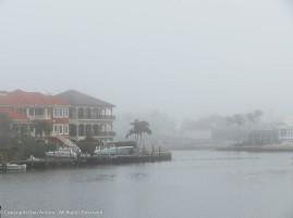 Even cased in fog, it's still tranquil.
