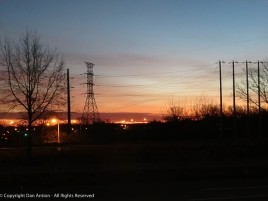 This is one of the points during the year when I get to see the sunrise during my morning commute.