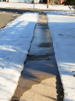 """""""Maddie, that's ice. We need to move into the street."""""""