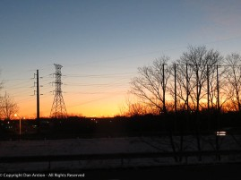 It's good to see the sunrise on the way to work. The change to DST will wipe this out and then it will return.