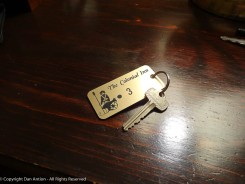 This is the last time I was ever handed a real key for a hotel room.