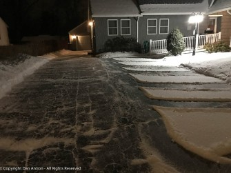 We didn't get much snow, I actually shoveled it.