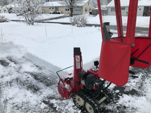 There's a method behind the pattern by which the driveway is cleared.