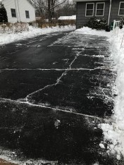 The driveway is done.