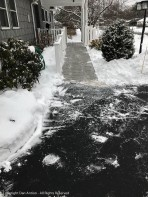 The ramp and porch are now clear.