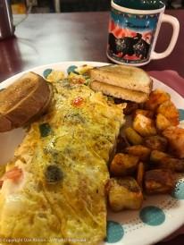 It's a veggie omelet