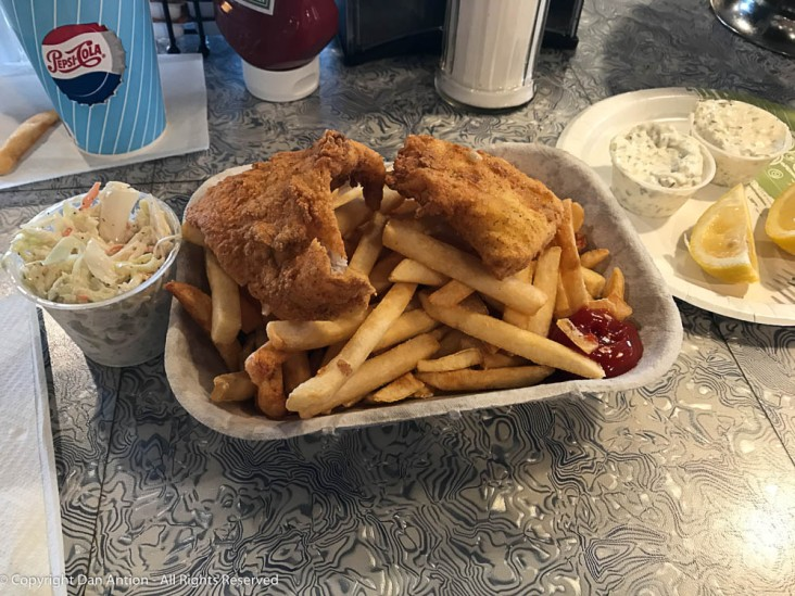 Fish & Chips at Scooter's Diner