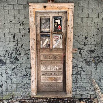 A close-up of the door.