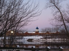 A winter scene before DST.