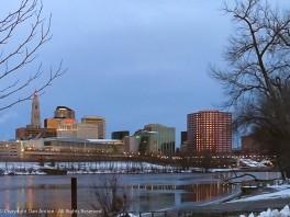 A frozen city