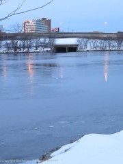 A week of subfreezing weather, the CT River is icing over again.
