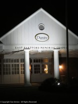 Yeah, it's a funeral home, but I like it when it's lit up in the morning.