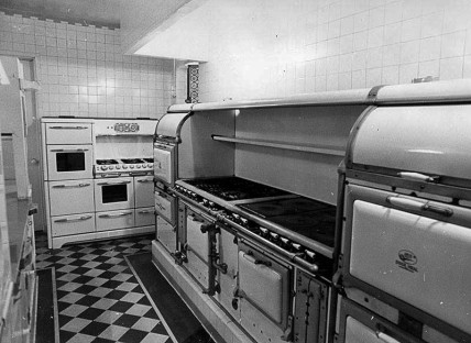 """Brad's comment: """"I am a lifelong kitchen fan....this is one of my favorites...Harold Lloyd mansion kitchen ....Ortiz...Herald-Examiner [ca. 1973]"""""""