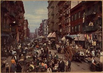 Mulberry Street, south from near Bayard Street. Detroit Photo circa 1900