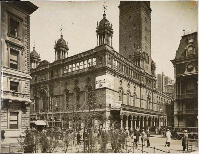 Corner of Madison Avenue and 26th Street - Madison Square Garden 1925 - Milstein - Wurts