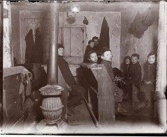 Talmud School in a Hester Street Tenement. DATE:ca. 1890 - photo - Jacob Riis