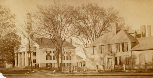 First Parish and Wright Tavern - From concord Museum
