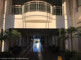 The lobby of our building from the sunny side.