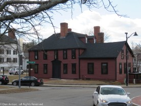 Wright Tavern - You can see the side of the First Parish church off to the left.