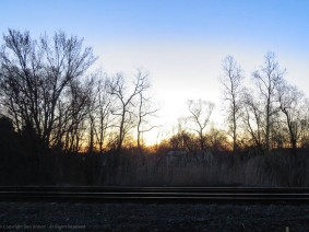 Taken from the wrong side of the tracks. Something has killed the trees in that clearing.