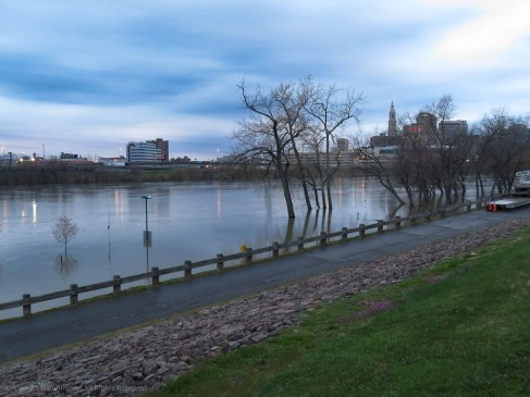 The CT River is much higher today.