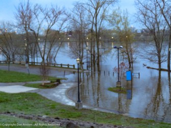 This was Monday, but the water is still rising.