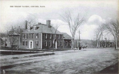 Another historic image of the Wright Tavern from the Concord Museum.