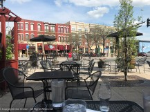 It was warm enough in Minneapolis to drink and eat outside.